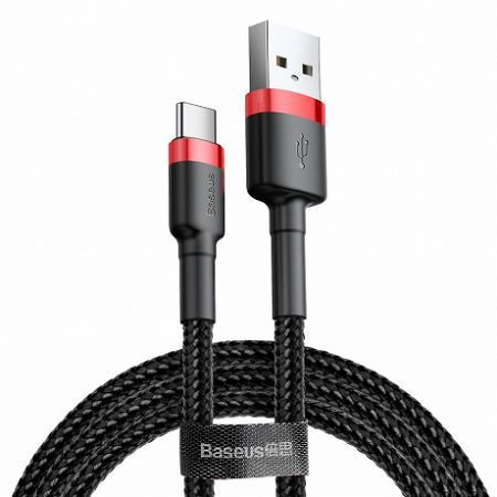 Baseus Cafule kábel USB / USB-C Quick Charge 3.0 2m, fekete/piros