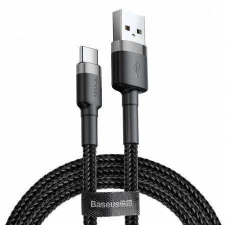 Baseus Cafule kábel USB / USB-C Quick Charge 3.0 2m, fekete/szürke