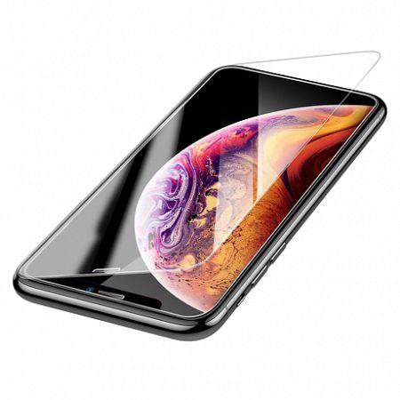 Baseus Full Coverage 0.3 mm kijelzővédő üvegfólia  iPhone XS Max, átlátszó (SGAPIPH65-ES02)
