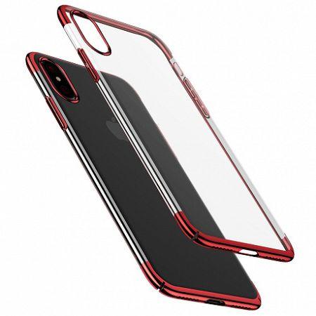 Baseus Glitter műanyag tok iPhone X/XS, piros