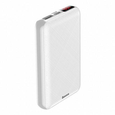 Baseus Mini S Power Bank 10000 mAh USB / USB-C + Lightning, fehér (PPALL-XF02)