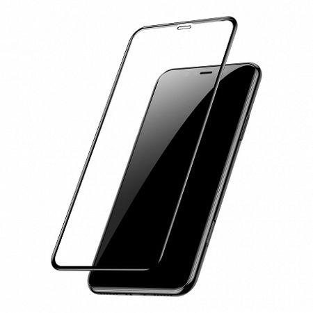 Baseus PET Soft 3D kijelzővédő üvegfólia  iPhone XS Max, fekete (SGAPIPH65-PE01)