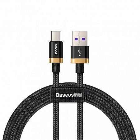 Baseus Purple Gold kábel USB / USB-C Quick Charge 3.0 1m, fekete