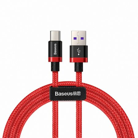 Baseus Purple Gold Red kábel USB / USB Type-C QC 3.0 1m, piros (CATZH-A09)