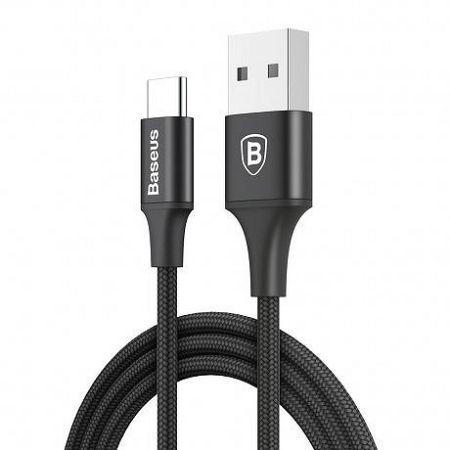 Baseus Rapid kábel LED világító USB / USB-C 2A 1m, fekete