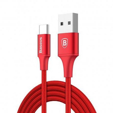 Baseus Rapid kábel USB / USB Type-C 2m, piros (CATSU-C09)