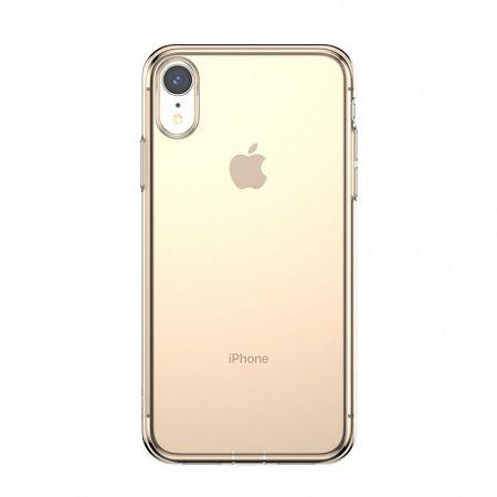Baseus Simplicity szilikon tok iPhone XR, átlátszó arany
