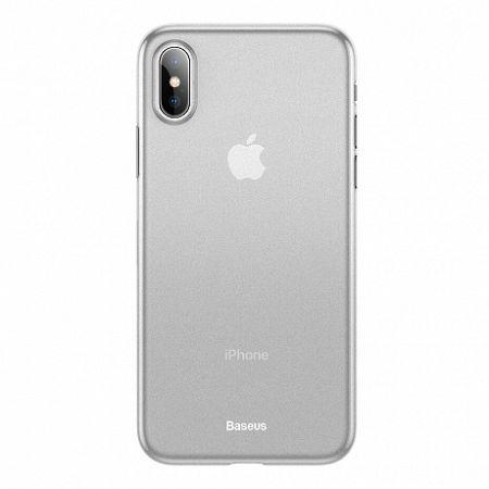 Baseus Wing Ultra Thin műanyag tok iPhone X/XS, fehér (WIAPIPH58-E02)