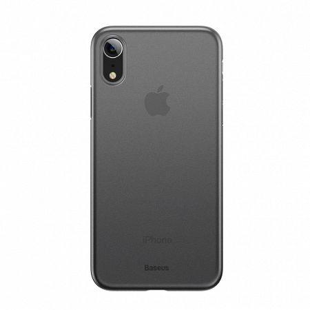 Baseus Wing Ultra Thin műanyag tok iPhone XR, átlátszó fekete (WIAPIPH61-E01)
