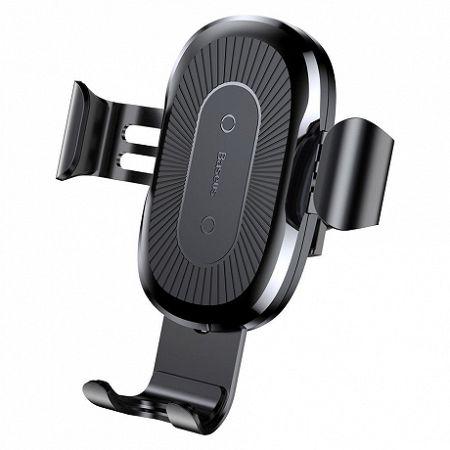 Baseus Wireless Charger Gravity autós tartó, fekete (WXYL-01)