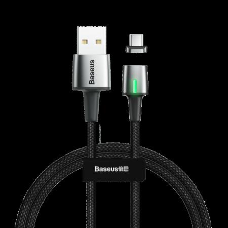 Baseus Zinc mágneses kábel USB / USB Type-C 1m, fekete