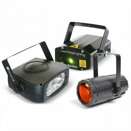 Beamz Light Package 4, disco fényhatás készlet, lézer, stroboszkóp