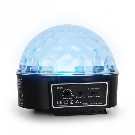 Beamz Mini Star Ball, RGBWA, LED, 6 x 3 W, zenei üzemmód