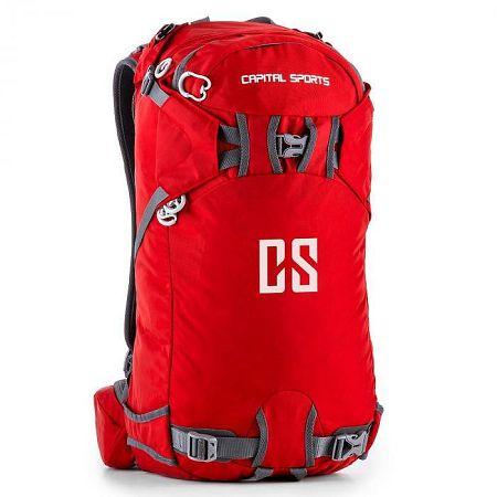 Capital Sports CS 30 szabadidő- és sport hátizsák, 30 liter, vízlepergető nylon, piros