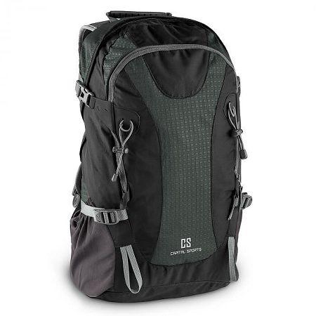 Capital Sports CS 38 szabadidő- és turisztikai hátizsák, 38 liter, vízlepergető nylon, fekete