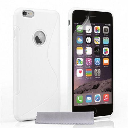 Caseflex szilikon tok S-Line Gel iPhone 6/6s Plus Fehér