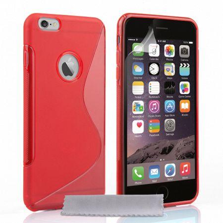 Caseflex szilikon tok S-Line Gel iPhone 6/6s Plus Piros