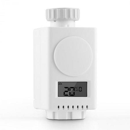 DURAMAXX HTF-R1, 2,4 GHz, vezeték nélküli termosztát fűtőtestre, szelep adapterek mellékelve