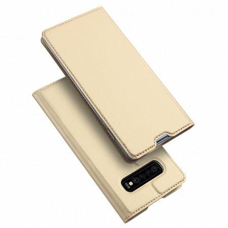DUX DUCIS Skin Pro bőrtok Samsung Galaxy S10, arany