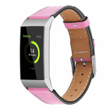 Fitbit Charge 3 Leather Italy (Small) szíj, Pink