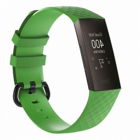 Fitbit Charge 3 Silicone Diamond (Large) szíj, Green