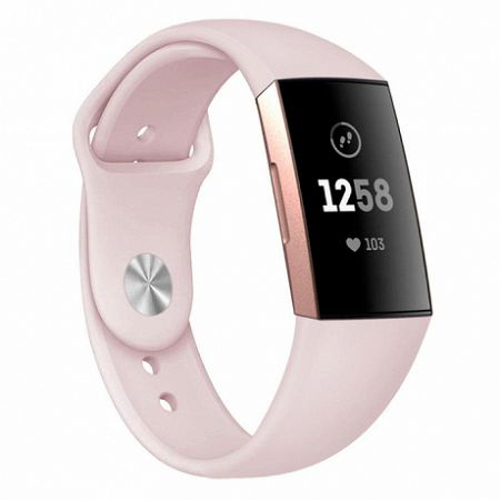 Fitbit Charge 3 Silicone (Large) szíj, Apricot