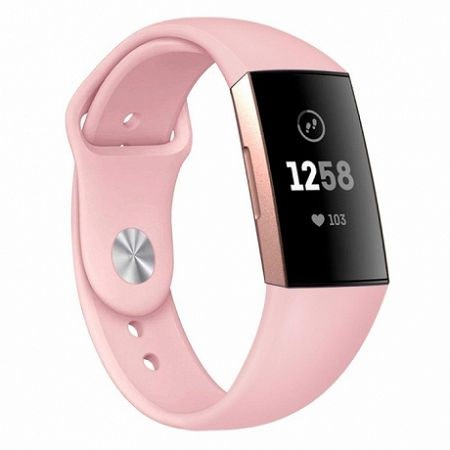 Fitbit Charge 3 Silicone (Large) szíj, Sand Pink