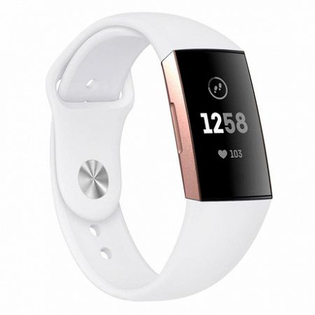 Fitbit Charge 3 Silicone (Large) szíj, White