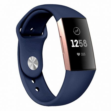 Fitbit Charge 3 Silicone (Small) szíj, Dark Blue
