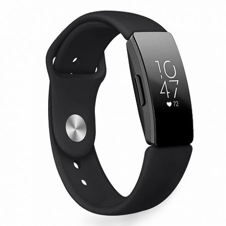 Fitbit Inspire Silicone (Large) szíj, Black