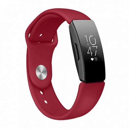 Fitbit Inspire Silicone (Small) szíj, Red Vine