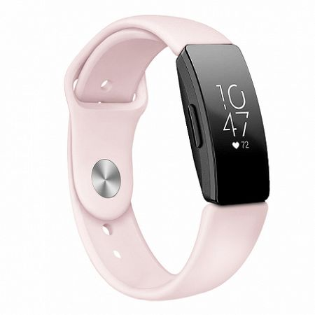 Fitbit Inspire Silicone (Small) szíj, Sand Pink