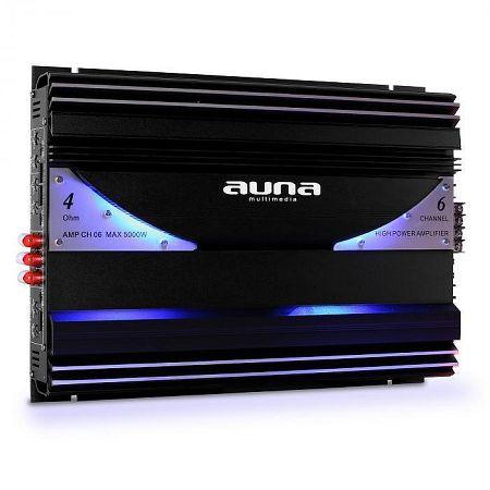Hatcsatornás Auna-CH06 5000W auto-erősítő