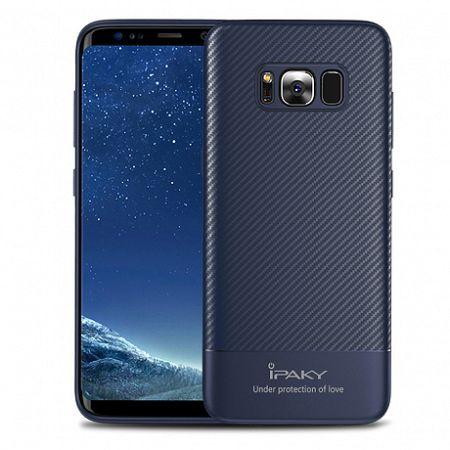 iPaky szilikon tok Slim Carbon Flexible Samsung Galaxy S8 Kék