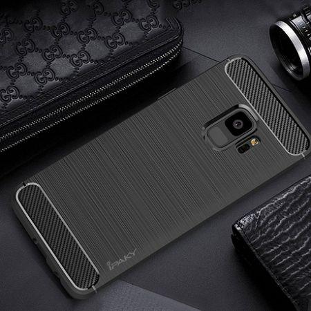 iPaky szilikon tok Slim Carbon Flexible Samsung Galaxy S9 Fekete