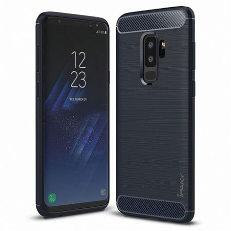 iPaky szilikon tok Slim Carbon Flexible Samsung Galaxy S9 Plus Kék