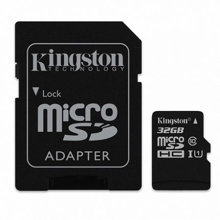 Kingston Canvas Select microSDHC 32GB UHS-I U1 + adapter (SDCS/32GB)