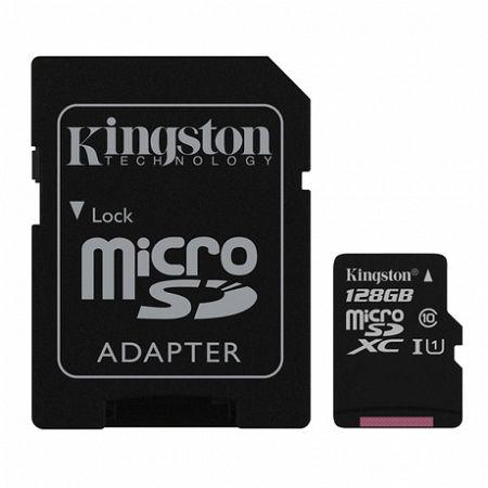 Kingston Canvas Select microSDXC 128GB UHS-I U1 + adapter (SDCS/128GB)