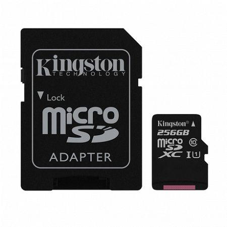 Kingston Canvas Select microSDXC 256GB C10 UHS-I + adapter (SDCS/256GB)