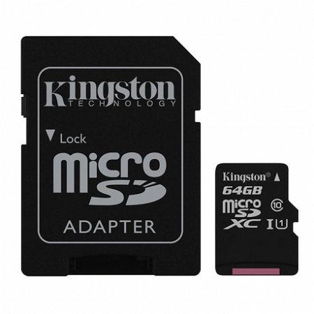 Kingston Canvas Select microSDXC 64GB UHS-I U1 + adapter (SDCS/64GB)