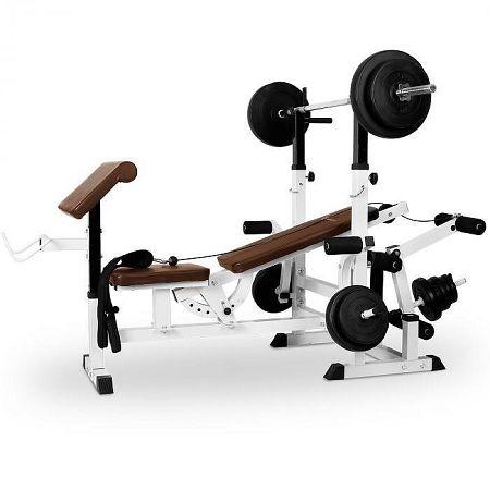 KLARFIT edzőpad, bench press, curl pult, butterfly