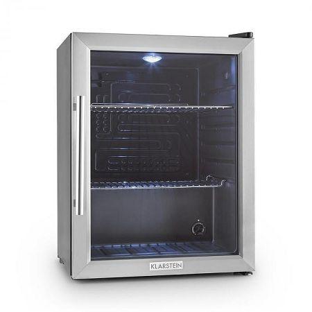 Klarstein Beersafe XL hűtőszekrény, 65 l, B osztály, üvegajtó, rozsdamentes acél