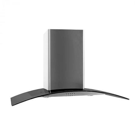 Klarstein GL90WSB kéményes páraelszívó, 90 cm, 385 m3/h, rozsdamentes acél