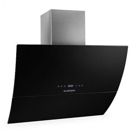 Klarstein RGL90WH, kéményes páraelszívó, 90 cm, fekete