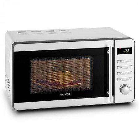 Klarstein Stella Prima mikrohullámú sütő, 1800 W, 20 l, grillezés, kiolvasztás, rozsdamentes acél