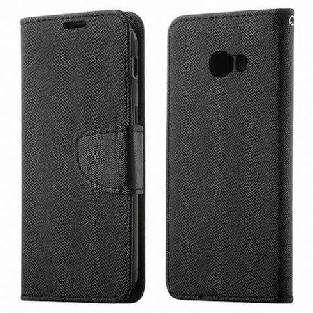Könyv bőrtok Fancy Flip Book Samsung Galaxy A8 2018 Fekete
