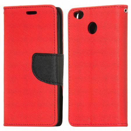 Könyv tok Fancy Flip Book Xiaomi Redmi 4X Piros