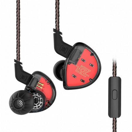 KZ ES4 Hybrid Hi-Fi fülhallgató Headset, fekete