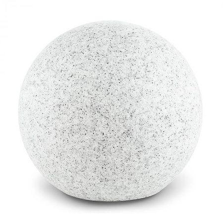 Lightcraft Shinestine M, gömbölyű szabadtéri lámpa 30 cm-es átmérővel, kőhatás