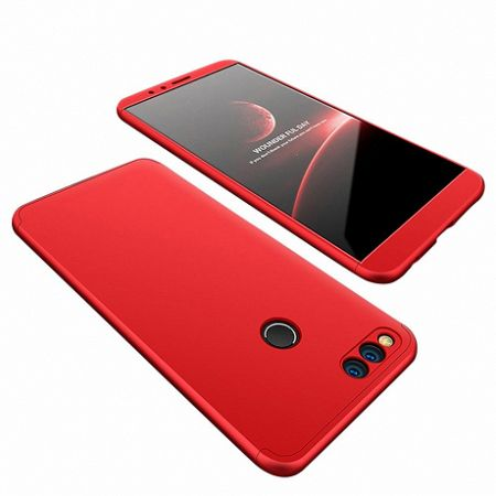 Műanyag tok 360 Full Body Protection Huawei Honor 7X Piros